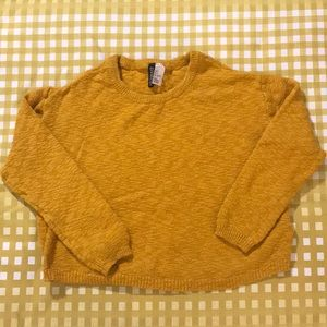3 for $15 cropped mustard sweater